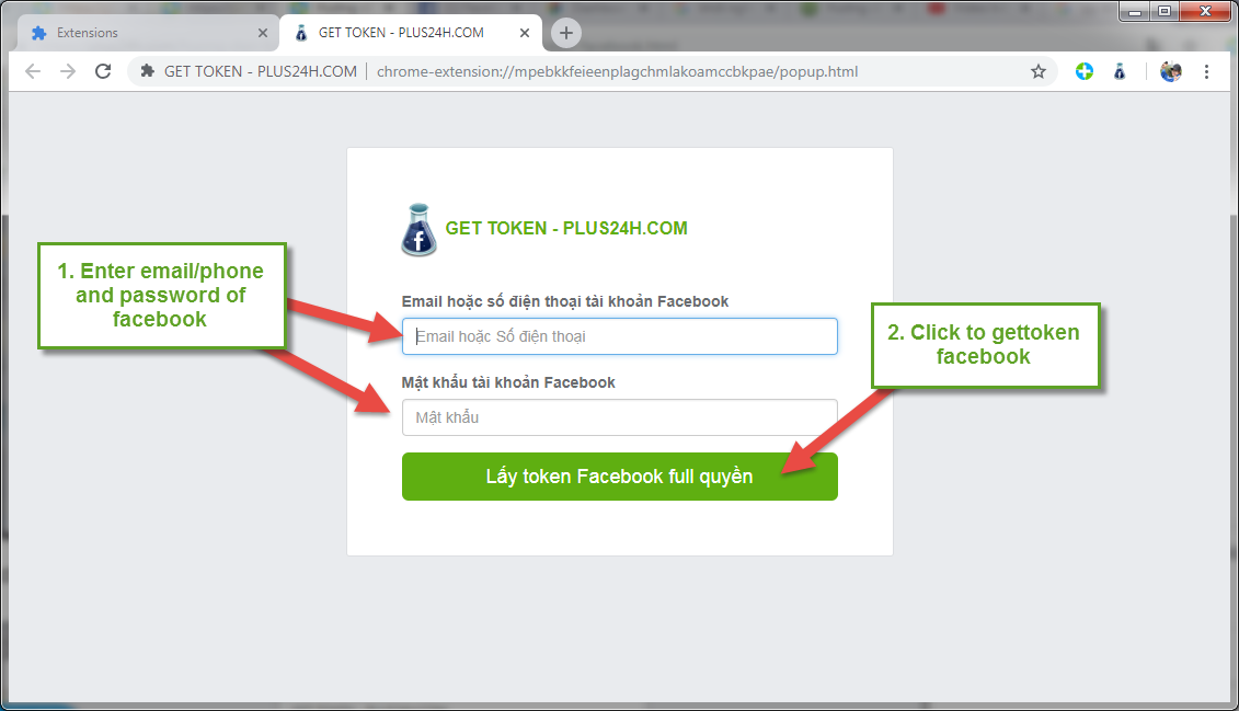 Install Gettoken Facebook