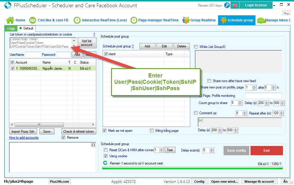 Use Ssh Proxy in FPlusScheduler - FPlusScheduler